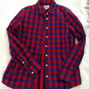 J.CREW Poppy Plaid Boy Shirt Tartan size 6 Buffalo